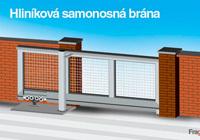 Cancello autoportante modulare di profilati di alluminio